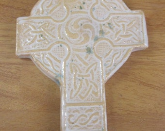 Ceramic celtic cross