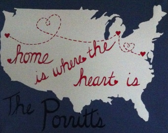 Home is Where the Heart Is Canvas United States Painting