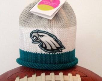 Philadelphia Eagles Inspired Baby Hat