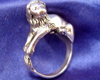 Yames Yesberger Lion Ring ~ Sterling ~ Size 6