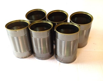 Empty Craft Cans For UpCycling ReUse ReCycle Lot of  6 Similar