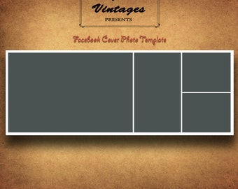 Facebook Timeline Cover Photo Photoshop Template, Photographers, Four Panel Storyboard