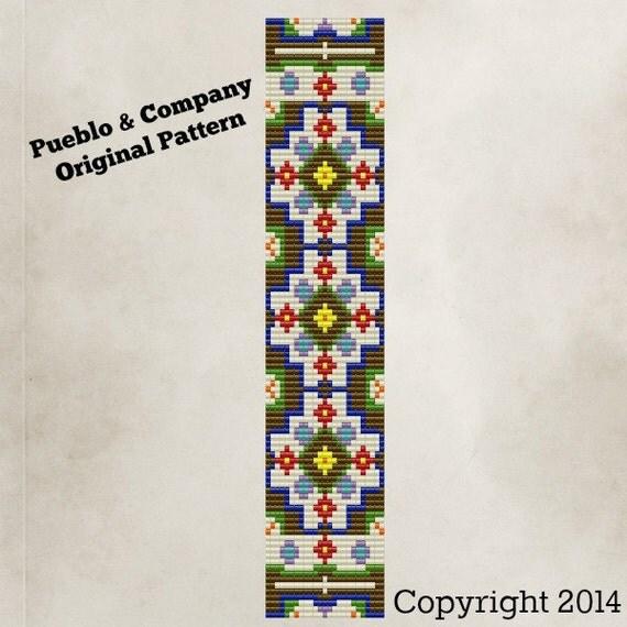 Bohemian Flower Garden Bead Loom Pattern Instructions Beaded