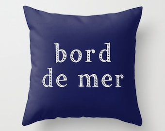 Sea Pillow Cover, Ocean PIllow cover, French Quote Pillow cover, Bord de mer, Nautical Beach Pillow Cover, Beach Decor, ocean house decor
