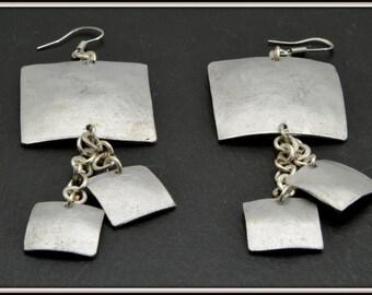 Designer handmade aluminium earrings