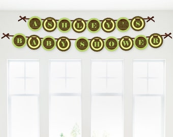 Elephant Garland Banner - Custom Party Decorations
