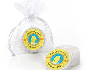 Ducky Duck Lip Balm Party Favors - Baby Shower and Birthday Party Supplies - 12 Count