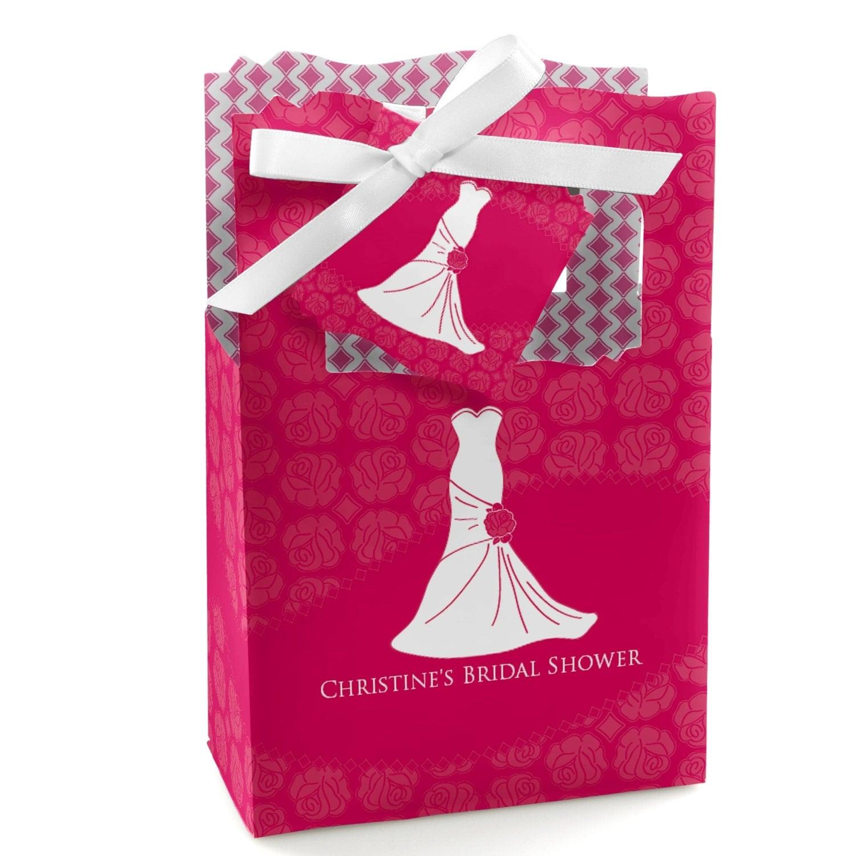 Wedding Dress Pink Favor Boxes Custom Bridal Shower Party