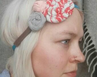 Hand embellished multicolored headband