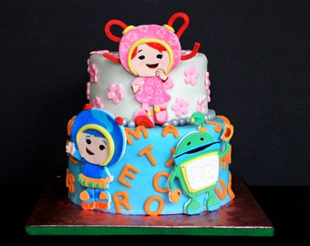 Team Umizoomi 2D Fondant Birthday cake topper
