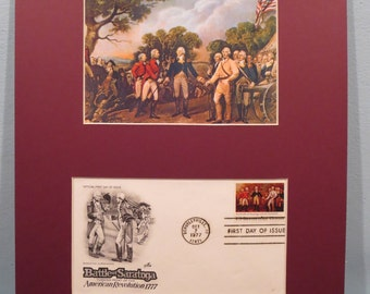 The Battle of Saratoga - The Turning Point of the Revolution & First day Cover of its own stamp
