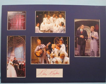 Rodgers and Hammerstein Broadway Musical -  The Sound of Music starring Theodore Bikel and Mary Martin as Maria Von Trapp & her autograph