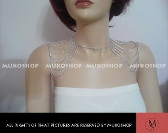 Shoulder Chain/ Silver Body Chain/ Body Chain/ Necklacesilver shoulder chain, most popular item, best sellers