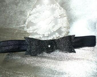 3/6months with node felt black headband