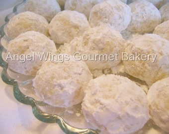 Lemon Tea Cakes 2 dozen, Italian Cookies, Wedding Cakes,Snowballs,Butterballs, Lemon Cookies