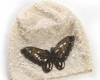 SALE!!! Butterfly insulated beanie