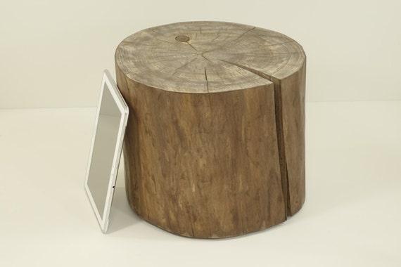 brown tree trunk tree stump side table baumstamm by. Black Bedroom Furniture Sets. Home Design Ideas