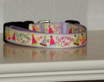 Birthday Girl Collar - 1 inch