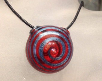 Blown glass pendant
