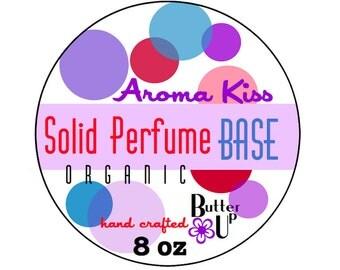8 oz Organic Solid Perfume Base // Organic Beeswax Solid Perfume Base