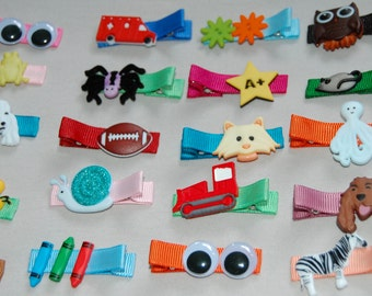 Gender neutral barrettes for both girls and boys! {Set of 5 clips}
