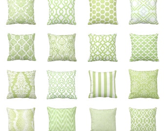7 Sizes Available: Decorative Pillows Throw Pillow Cover Green Pillow Green Cushion Cover Accent Pillow Sofa Pillow Kiwi Green Lime Green