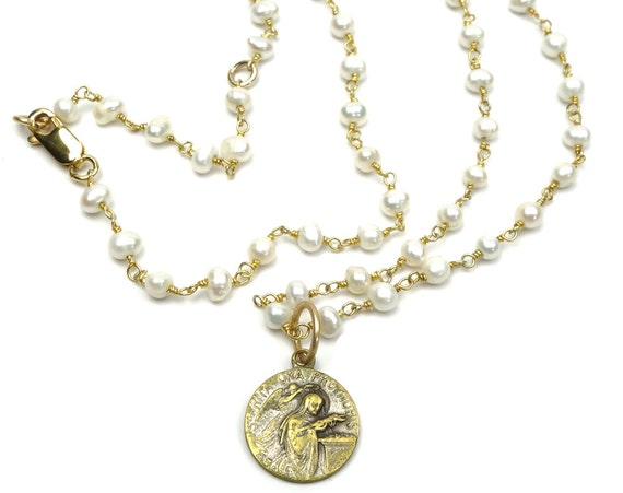 religious jewelry st vintage medal by
