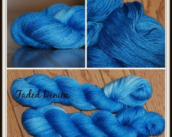 Faded Denim Bamboo/Silk/Merino Sock Yarn