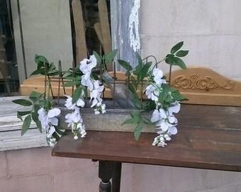 VINTAGE CHICKEN FEEDERS.Handcrafted into delightful planters