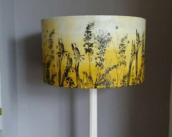 yellow lampshade, drum lampshade, Ceiling lampshade,pendant lamp shade,standard lampshade,table lampshade, large lampshade, small lampshade