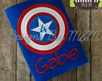 Captain America Inspired Birthday Shirt / Bodysuit