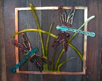 Dragonfly Metal art, mothers day gift, gift for mom, dragonfly home decor
