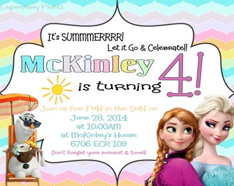 Frozen Summer Birthday Invitation