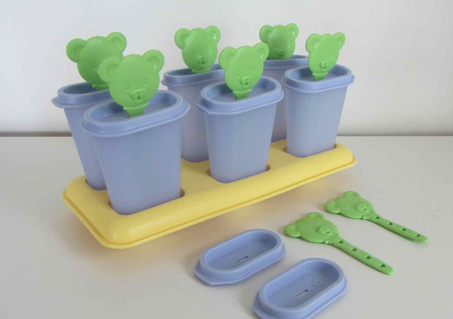 Tupperware Ice Pop Teddy Bear Popsicle Mold Teddy Bear