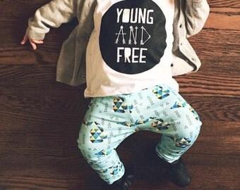 Blue Michigan, Organic Baby, Handmade, Organic Leggings, Newborn Leggings, Baby Leggings, Toddler Leggings, Children's Apparel