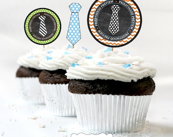 LDS Priesthood Preview Cupcake Toppers and Necktie cupcake Toppers LDS Primary