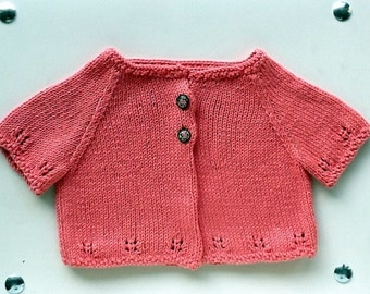 Coral retro Cardigan for flirtatious girl