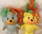 Pair of 1984 Hair Bears Lanard Toys