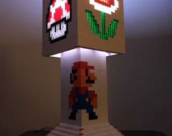 Mario Brothers LEGO lamp