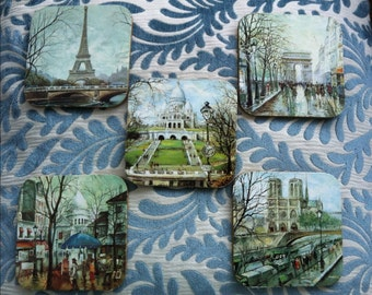 5 Vintage european tour coasters
