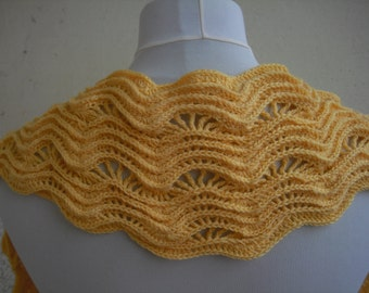 Yellow scarf with wave