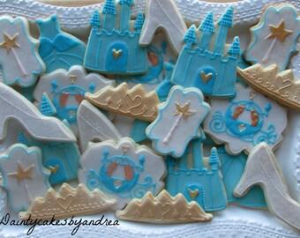 1 dozen princess decorated sugar cookies!