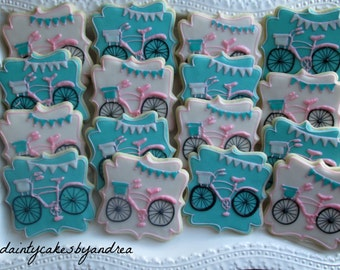 1 dozen vintage bicycle themed cookies!