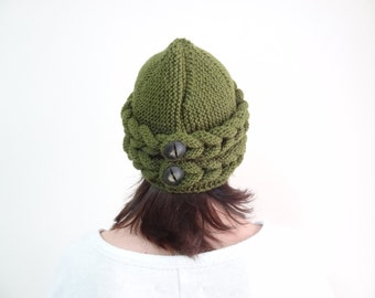 Olive Green  Hat Beanie,  Winter Beanie, Winter Accessories, Gift For Her