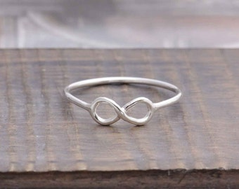 925 stering silver simple infinity band ring