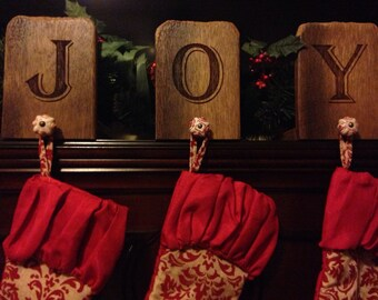 JOY Personalized Stocking Holder