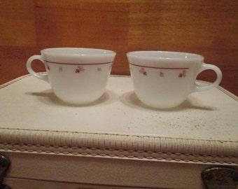 Set of two Pyrex mugs