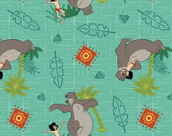 Disney's Jungle Book Cotton Woven Fabric 1 Yard listing
