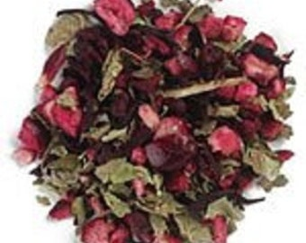 Love Potion Love Tea Blend, Herbal Tea, Organic Herbal Tea, Herbal Tea, Tea with Intention, Love Blend Red Rose, Lavender, Jasmine, Hibiscus