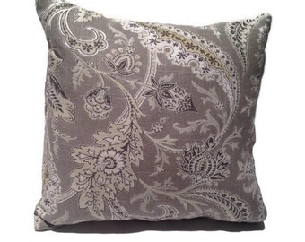 Decorative throw pillow with shades of yellow/gold and grey, home decor, reversable